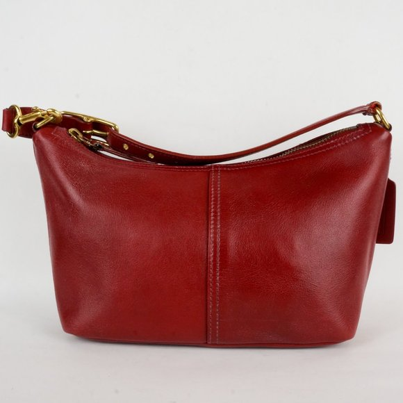 Coach Handbags - Vintage Coach Demi Model 9596 Red Leather Purse